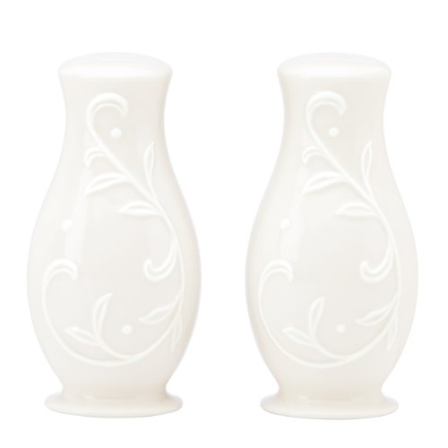 Lenox Opal Innocence Carved S and P Shaker Set