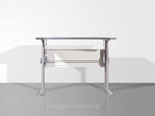 Schreibtisch-100-cm-hhenverstellbar-lichtgrau-Lexis-Pharao24