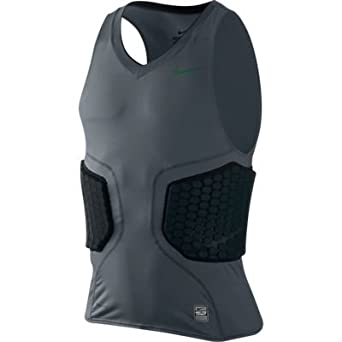 Nike Pro Mens Combat Vis-DeFlex Basketball Shirt-Gray by Nike