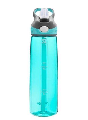 Contigo Autospout Addison Water Bottle, 24-Ounce, Ocean Color: Ocean Home & Kitchen front-952818