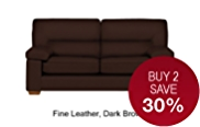 Buxton Medium Sofa with Hidden Storage - Leather