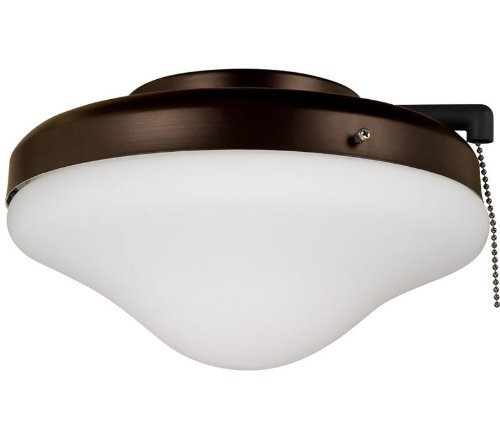 Ellington ELK113-1ESP-W All-Weather Dome Outdoor Ceiling Fan Light Kit - Espresso