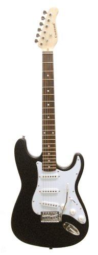 Crestwood St920Bkv Solid Body Electric Guitar, Black Voodoo