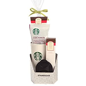 Starbucks Sampler Coffee Mug, Chocolate and Cookies Holiday Gift Set