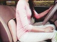 車の運転時に、デスクワーク時の腰痛対策に、ウエストクッション(腰当) ピンク 40cmx30cmx5~7.5cm 【丸洗いOK!・箱入・リバーシブル・腰痛対策】
