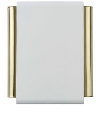 Thomas & Betts DH504 White Wired Decorative Door Chime With Brass Finish Tubes