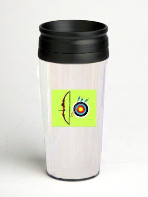 16 oz. Double Wall Insulated Tumbler with archery - Paper Insert16 oz. Double Wall Insulated Tumbler with archery - Paper Insert
