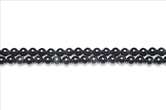 16 Inch Strand Of Black Rainbow Obsidian Plain Rounds 10mm 38 Beads GS11056-3