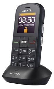 Alcatel One Touch 282X Handy (4,6 cm (1,8 Zoll) Display, FM-Radio) schwarz