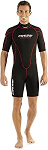 Cressi Men's 2.5mm Tortuga Wetsuit, Black/Red, Size 6/XX-Large