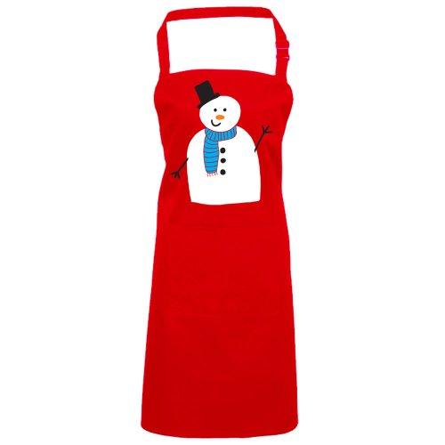 Batch1 Classic Xmas Snowman Festive Fun Novelty Christmas Chefs Apron