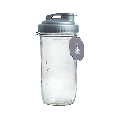 reCAP Mason Jars POUR & Ball Venti Jar, Wide Mouth, Canning Jar Lid, Silver (Recap Lids For Mason Jars compare prices)