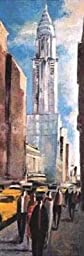 12W x 36H Chrysler Building by Didier Lourenã§O - Stretched Canvas w/ BRUSHSTROKES