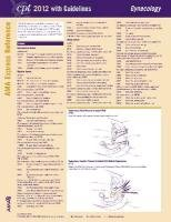 AMA Express Reference: Gynecology: CPT 2012 with Guidelines