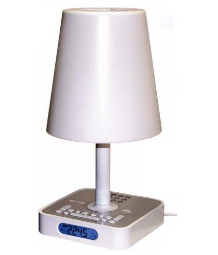 Elta 4567 Light`n Wake Wecker mit Wellness-Sounds (LCD-Anzeige) weiß/silber