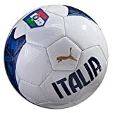 Puma 1 082275 01 FIGC Fan Mini White and Blue Football