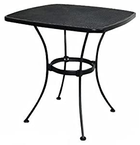 Woodard cm llc uptown 28 39 bistro table wi 300 wrought iron for Table 300 cm