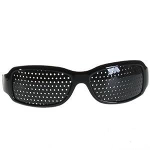Gafas Estenopeicas Pinhole Mejorar Vista Corregir Miopia - negro(Pinhole Black)