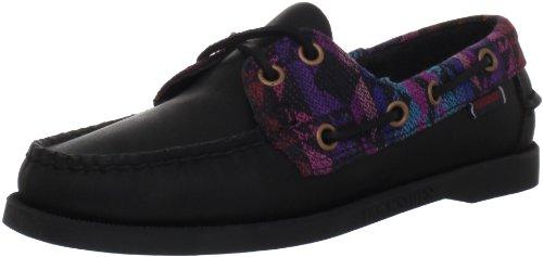 Sebago Women's Spinnaker Boat Shoe,Black/Tribal,8 M US