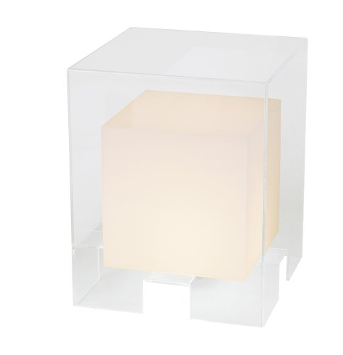 Cheap Adesso Light Block End Table, White/Clear (WK2801-02)
