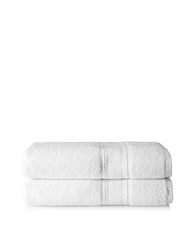 Laura Ashley Leyton Bath Towel Set, White, 2 Piece