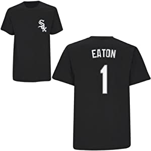 Adam Eaton Chicago White Sox Black Youth Player T-Shirt by Majestic by Majestic