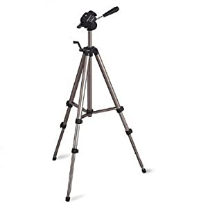 """Ex-Pro® TR-654 Professional Photographic Camera Tripod for (490mm - 1340mm / 53"""") Geared system, Spirit Level, Fast Install, Quick Release, High Quality for all sized camcorders - (Suitable for Canon, JVC Everio, Panasonic, Sanyo, Sony Handycam & Others)"""