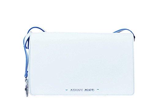 ARMANI JEANS Borsa Tracolla Donna Ecopelle Logo Bianco 0529M R1