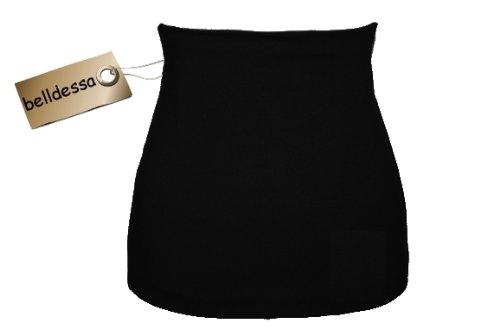 3 in 1: Jersey - Nierenwärmer / Shirt Verlängerer / modisches Accessoire Baumwolle schwarz uni