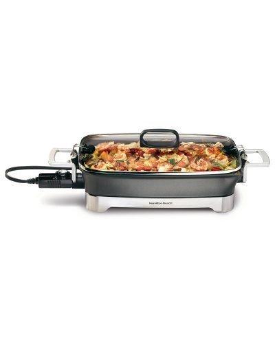 16-Inch Step Up Skillet Black Electric Skillet Cook Hot Kitchen Food