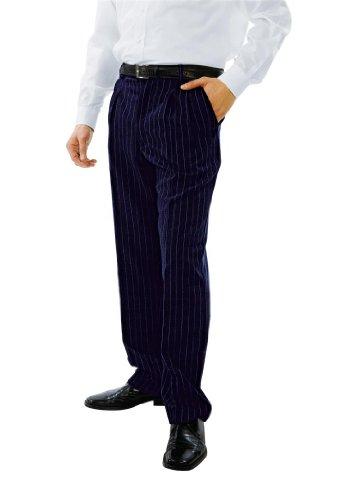 Robinson pantaloni da uomo con tasche ago a strisce blu