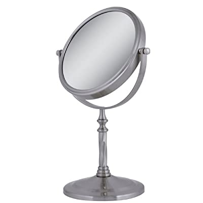 Best Cheap Deal for Zadro VAN45 Two-Sided Vanity Swivel Mirror, Satin Nickel, 1X-5X from Zadro Health Solutions - Free 2 Day Shipping Available