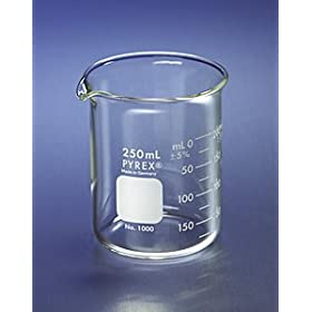 PYREX Griffin Low Form 1000mL Beaker Graduated Ea