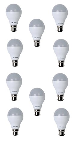9W Cool Day Light LED Bulb (Pack of 10)
