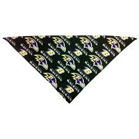 Baltimore Ravens Dog Bandana ((X-Small: 6-12