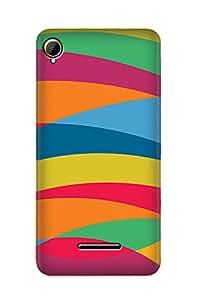 ZAPCASE PRINTED BACK COVER FOR INTEX AQUA POWER PLUS - Multicolor