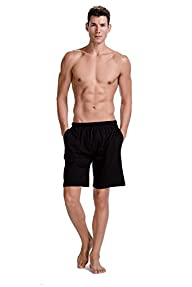 CYZ Men's 100% Cotton Knit Sleep Shorts