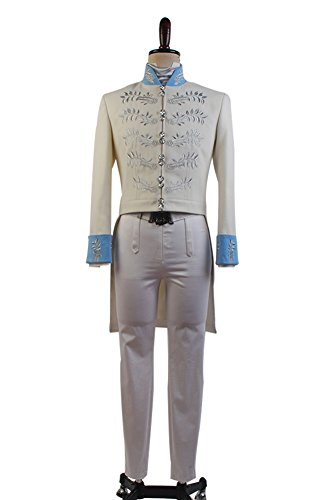 Sidnor Cinderella 2015 Film Prince Charming Kit Outfit Cosplay Costume