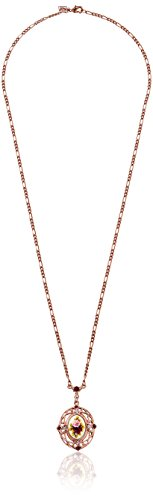 1928 Jewelry Vintage-Inspired Collection Long Pendant Necklace Rose Necklace