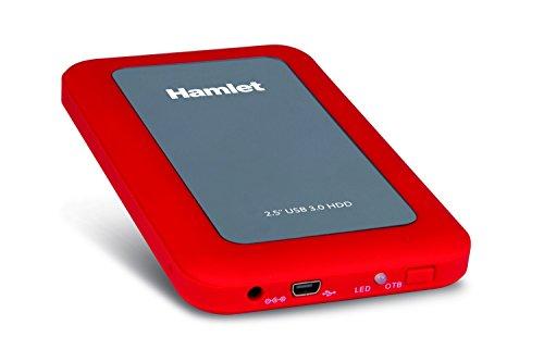 """Hamlet HXD25U3MRD - Box per Hard Disk SATA, USB 3.0 da 2.5"""" (colore Rosso)"""