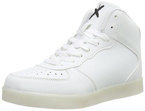wize & opeLED-Hi - Scarpe da Ginnastica Basse Unisex - Adulto , Bianco (Weiß (white 01)), 42