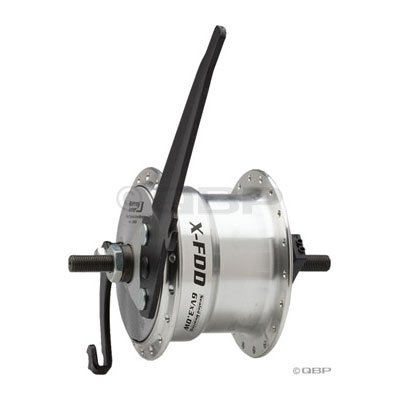 Sturmey Archer Dynamo Drum brake Front hub 36h, Silver