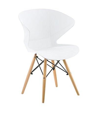 Lo+deModa Set Sedia 2 pezzi Wooden Bianco