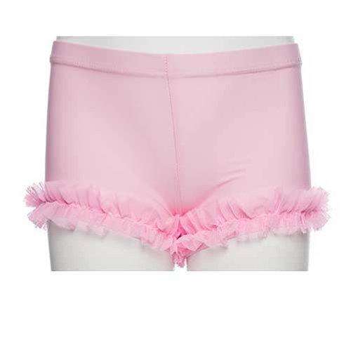 Lexi Luu Girls 2T-4T Light Pink Spandex Ruffle Leg Bootie Dance Shorts front-1011992