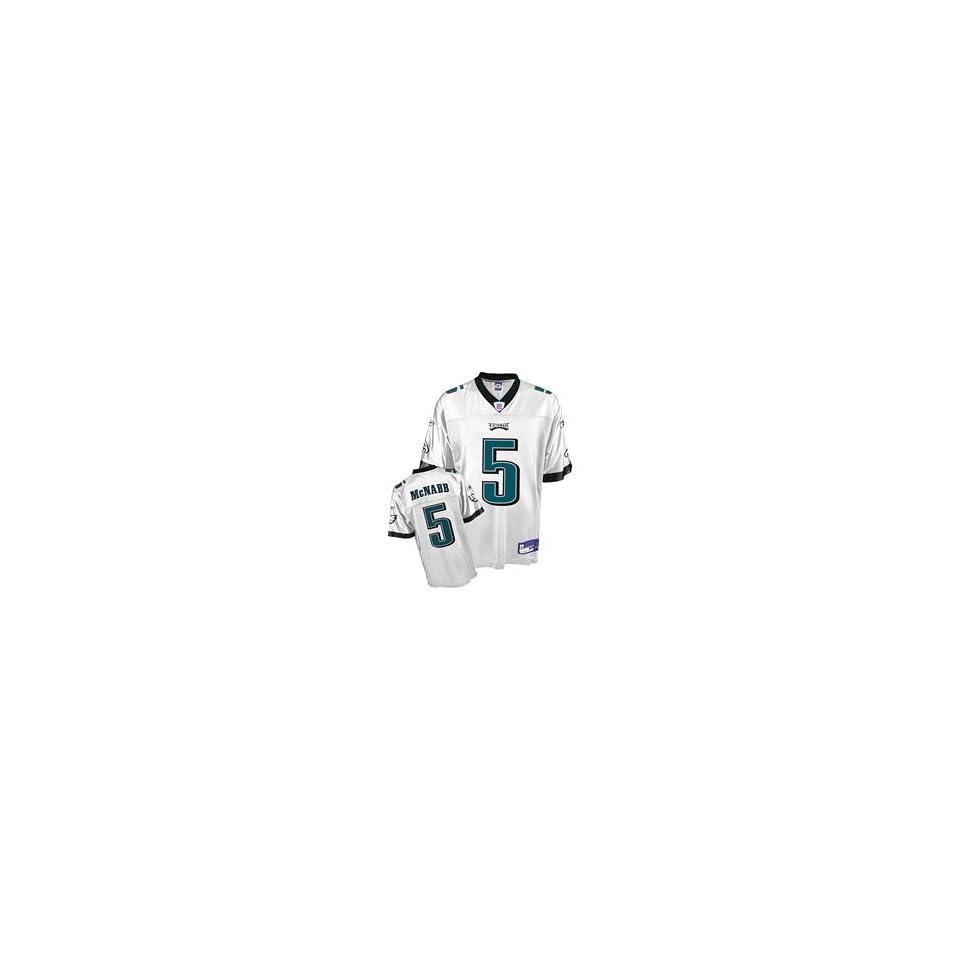 Reebok Philadelphia Eagles Donovan McNabb Youth Replica White Jersey Extra  Large 6ef77a32b