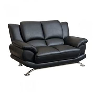 Global Furniture USA 9908BL-L Bonded Leather Loveseat in