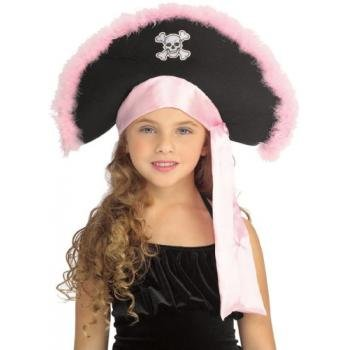 Rubie's Costume Co Pirate Hat with Pink Marabou Costume