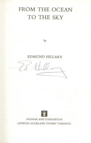 SIR EDMUND P. HILLARY - BOOK SIGNED