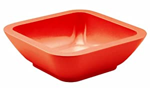Zak Designs 0050- 0321E Coupelle carrée 15cm Rouge Seaside mélamine