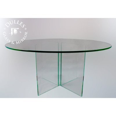36'' Round 1/4 Inch Thick Flat Polised Tempered Glass Table Top